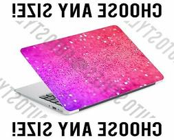 Pink Purple Ombre Glitter Laptop Skin Decal Sticker Tablet S