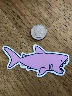 Pink Shark Skateboard/Laptop/Phone Sticker