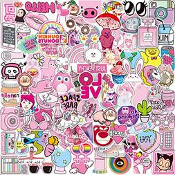 Pink Sticker Pack  Vinyl Pop Cute Stickers for Laptop Skateb
