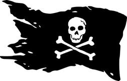 Pirate Flag Decal Vinyl Sticker|Cars Trucks Vans Walls Lapto