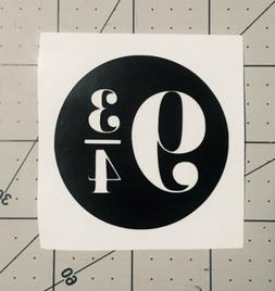 """Platform 9 3/4 Vinyl Sticker Decal 2.25"""" Laptop Tumbler Ye"""