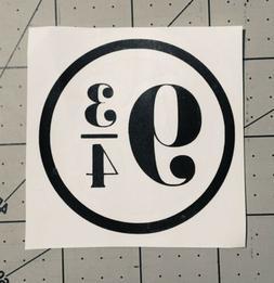 "Platform 9 3/4 Vinyl Sticker Decal 2.5"" Laptop Tumbler Har"