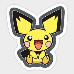 Pokemon Cute Baby Pichu Electric Vinyl Decal Wall Decor Bump