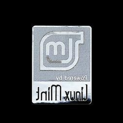 Powered by Mint Linux Metal Decal Sticker Case Computer PC L