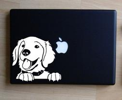 "Prince the Golden Retriever - White - Decal for 13"" Macbook"