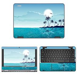 decalrus - Protective Decal Beach Skin Sticker for Dell Chro