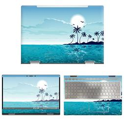 decalrus - Protective Decal Beach Skin Sticker for HP Envy X