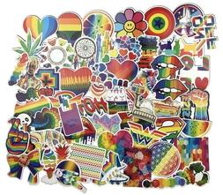 Psychedelic Rainbow PVC Sticker Pack Lot, Laptop Skateboard