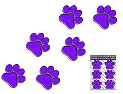 PURPLE PAW PRINTS Small ANIMAL Pet Cat Dog Pack Car Stickers