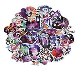 Purple Sky Graffiti Sticker, 50 Pieces Waterproof Vinyl Stic