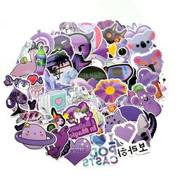 Purple Sticker Bomb Cute Unicorn Animal Pepe Frog Meme Lapto
