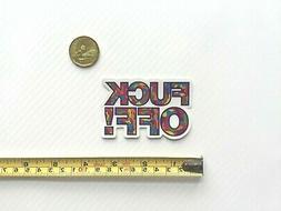 quality f ckoff multi camo vinyl sticker