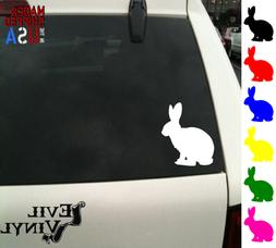 Rabbit Decal Sticker Car Window Bunny Bugs Animal Hare Lapto