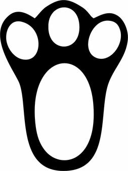 Rabbit Paw Print Vinyl Decal Bumper Sticker Car Window Pet L