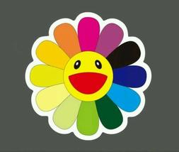 Rainbow Daisy Flower Sticker Takashi Murakami  Skateboard Ph