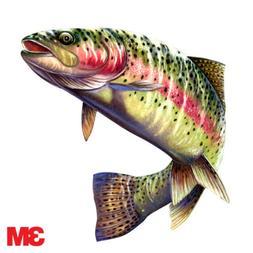 "Rainbow Trout decal 6x5.5"" Sticker Car, Laptop, Boat RV Fish"