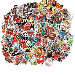 Cool Sticker 100pcs Random Music Film Vinyl Skateboard Guita