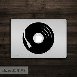 Record Player - Mac Apple Logo Laptop Vinyl Decal Sticker Ma