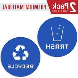 Recycle and trash sticker vinyl modern logo  symbol to organ