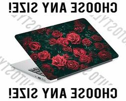Red Rose Bush Red Flowers Laptop Skin Decal Sticker Tablet S