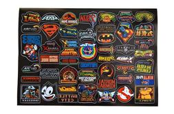 Retro Video Game Vinyl Sticker Pack 46 pcs Game Logos Laptop