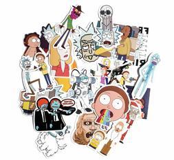 Rick And Morty 35 Pcs Car Sticker Adult Cartoon Vinyl Decal