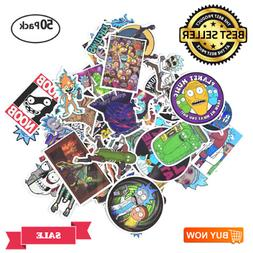 Rick and Morty Stickers Waterproof 50 pack Trendy for Teens