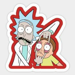 rick and morty vinyl sticker for laptop