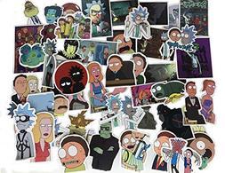 50 Pcs Rick and Morty Laptop Stickers Waterproof Skateboard