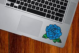 Rose Blossom D2 Stained Glass Style - Vinyl Decal for Trackp