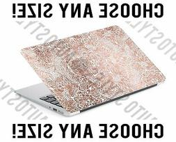 Rose Gold Bohemian Medallion Laptop Skin Decal Sticker Table