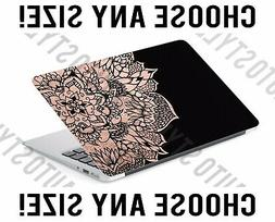Rose Gold Medallion Bohemian Laptop Skin Decal Sticker Table