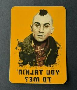 S163 Taxi Driver quote film movie Sticker, laptop, wall, pho