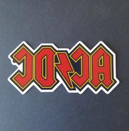 S608 ACDC rock music Sticker, laptop,wall,book,phone,tablet