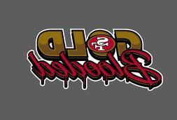 San Francisco 49ers Gold Blooded Vinyl Vehicle Car Laptop Wa