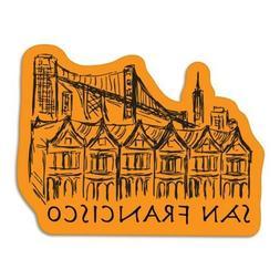 San Francisco Orange Car Laptop Phone Vinyl Sticker  - SELEC