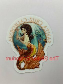 Santa Cruz California Mermaid Sticker ~ Water Bottle ~ Lapto