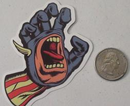 santa cruz sticker captain america screaming hand cell lapto