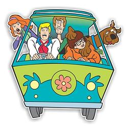 Scooby Doo Mystery Machine Patch | 4 Size Decal Laptop Stick