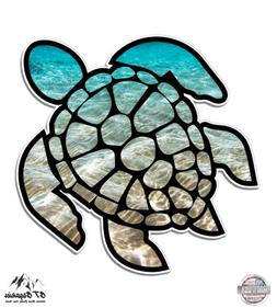 "Sea Turtle Beach Ocean - 5"" Vinyl Sticker - For Car Laptop I"
