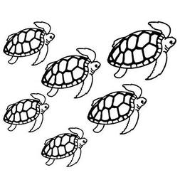 SEA TURTLE FAMILY CUSTOM CARS WINDOW LAPTOP VINYL DECAL STIC