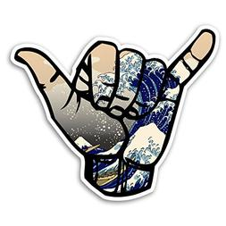 SHAKA - Great Wave off Kanagawa -  Decal Sticker for Car Tru