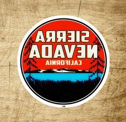 "Sierra Nevada Mountains California Sticker 2.9"" Decal Bumper"
