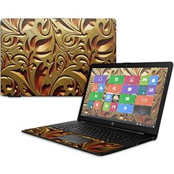 "MightySkins Skin for HP 17t Laptop 17.3""  - Mosaic Gold Prot"