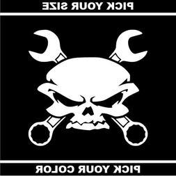 Skull 09 Vinyl Sticker/Decal *Punk *Garage *Goth *EMO *Metal