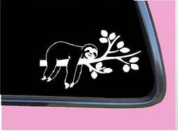 "Sleeping Sloth TP 647 Sticker 8"" wide Decal gifts stuff cale"