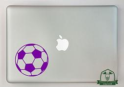 "Grain To Glass Designs Soccer Ball 11"" Laptop Decal - Purple"