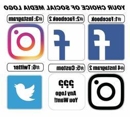 Social Media Logos Vinyl Sticker Decal /bumper, window, wall