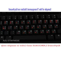 SPANISH LATIN Transparent Keyboard Sticker for laptop deskto