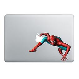 spiderman marvel comic macbook stickers